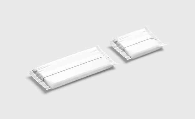 Maquete de embrulho de folha de chocolate grande e quadrada branca em branco sobremesa doce de chocolate vazio embrulhando maquete