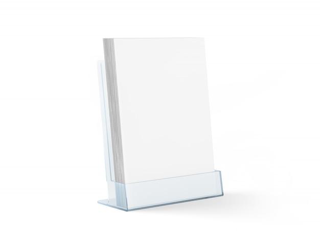 Maquete de folheto em branco