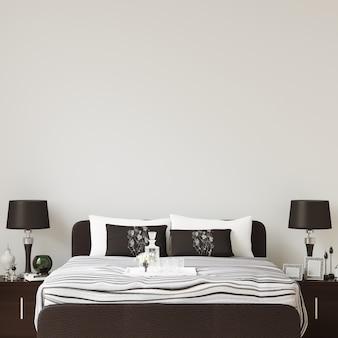 Maquete de galeria de parede do quarto interior
