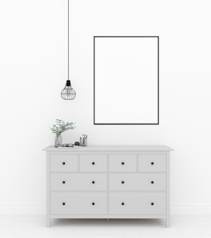 Maquete de interior - quadro vertical