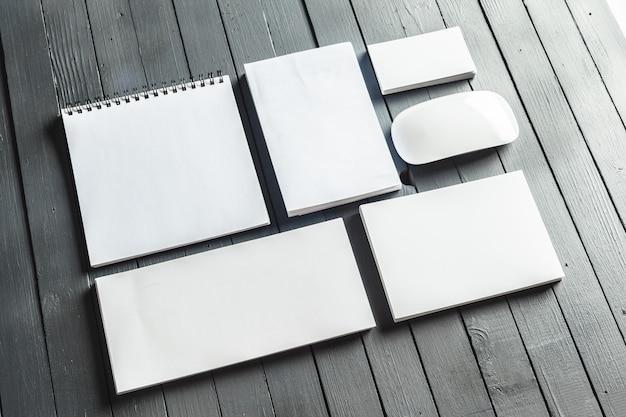 Maquete de material de escritório