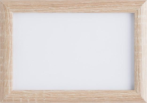 Maquete de moldura de madeira minimalista
