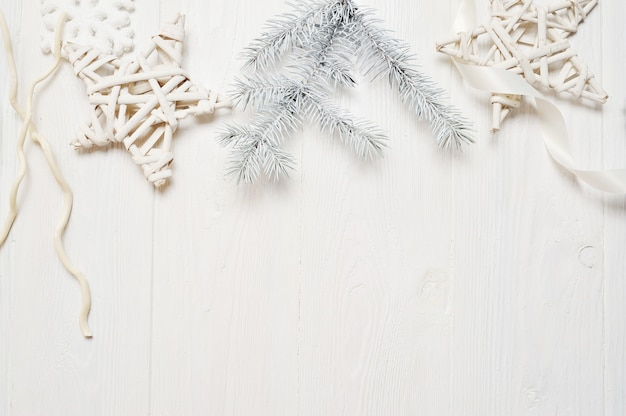 Maquete de natal ou ano novo quadro composição com espaço para seu texto