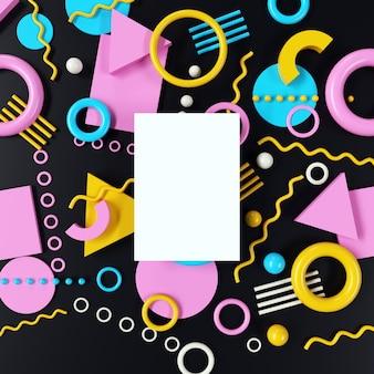 Maquete de papel com padrão geométrico colorido