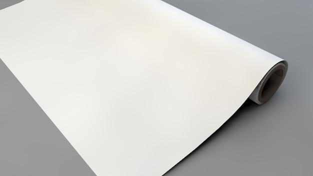 Maquete de papel de embrulho
