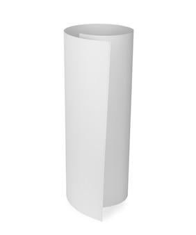 Maquete de papel whatman em branco com vista superior do rolo isolada