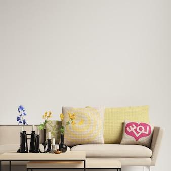 Maquete de parede de sala de estar interior