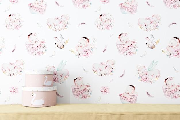 Maquete de parede em branco bebê 570