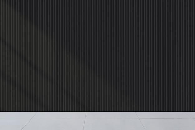 Maquete de parede escura em branco em uma sala de estar
