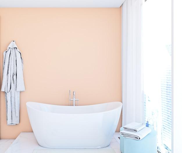 Maquete de parede no banheiro em estilo moderno