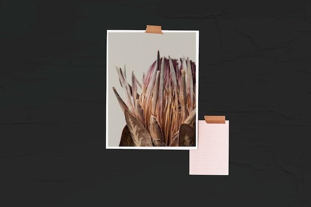 Maquete de parede psd com fotos