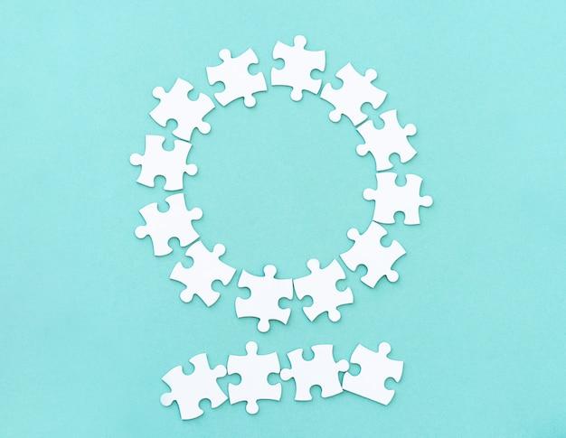 Maquete de peças de quebra-cabeça para letras