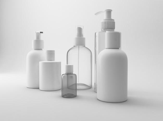Maquete de produtos cosméticos