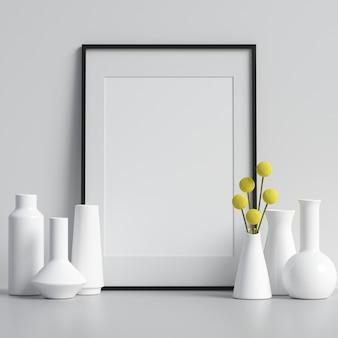 Maquete de quadro com decorações