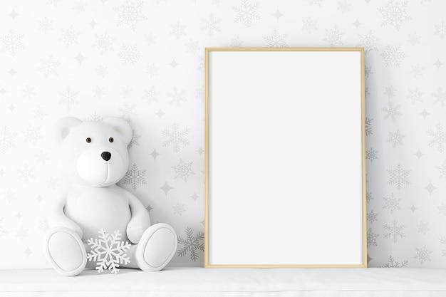 Maquete de quadro infantil de inverno