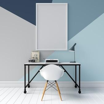 Maquete de quadro na parede geométrica
