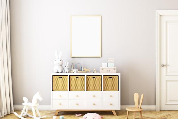 Maquete de quarto infantil a4 em estilo boho