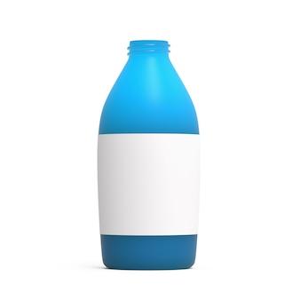 Maquete de recipiente de líquido de garrafa de plástico azul aberto item para publicidade de embalagem