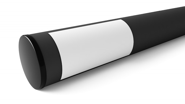 Maquete de recipiente de tubo de papel isolada