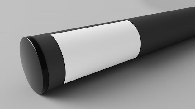 Maquete de recipiente de tubo de papel