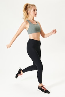 Maquete de roupa de ioga feminina, roupa ativa