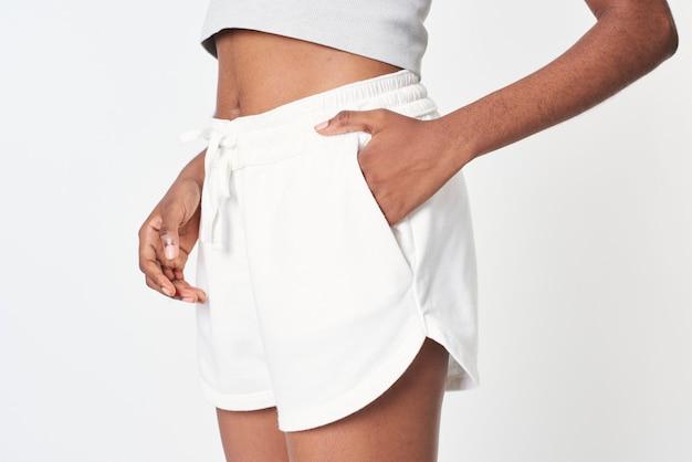 Maquete de roupas esportivas femininas de vestuário ativo