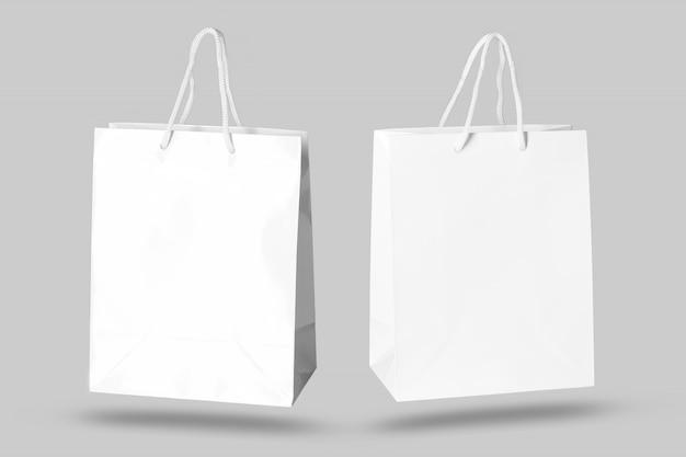 Maquete de saco de papel isolado