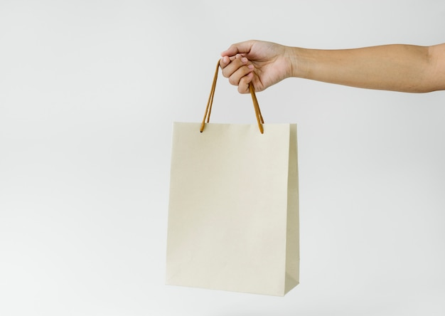 Maquete de saco de papel