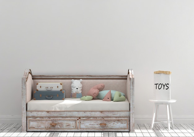 Maquete de sala de jogos de crianças