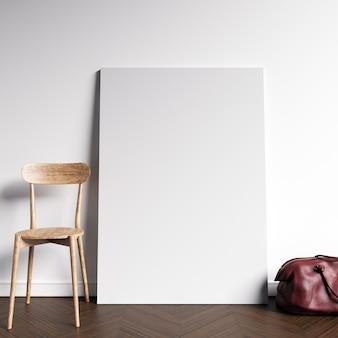 Maquete de tela no interior simples