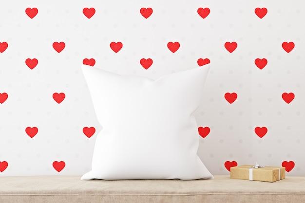 Maquete de travesseiro para o dia dos namorados