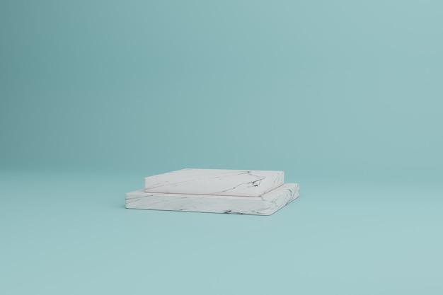 Maquete de vitrine em branco com retângulo vazio em 3d para apresentação de produtos cosméticos