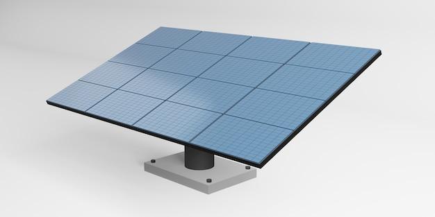 Maquete do painel de armazenamento elétrico do painel solar ilustração 3d da energia solar