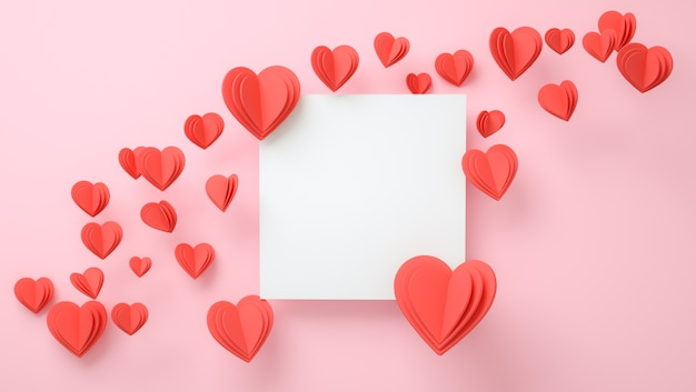 Maquete do quadro com o conceito de amor. dia dos namorados, dia das mães, convite de casamento
