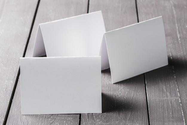 Maquete em branco de cartões de visita