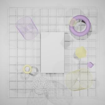 Maquete em branco, moldura de pôster, moldura de foto renderização 3d