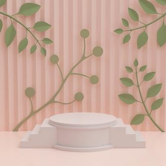 Maquete minimalista moderna para exibição de pódio ou vitrine.