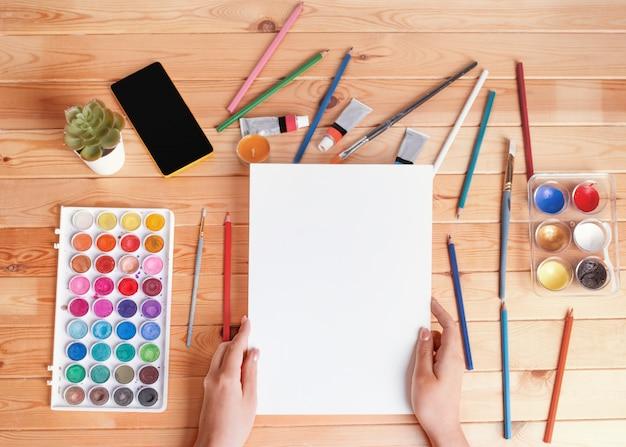 Maquete para desenho e pintura