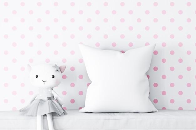 Maquetes de travesseiro estilo infantil
