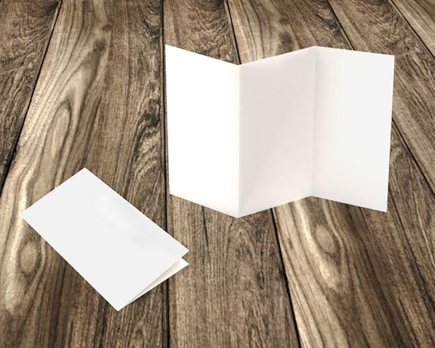 Maquette de brochura papier trois volets ilustração vetorial