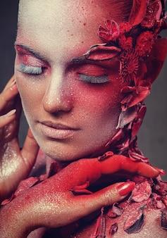 Maquiagem artística bonita