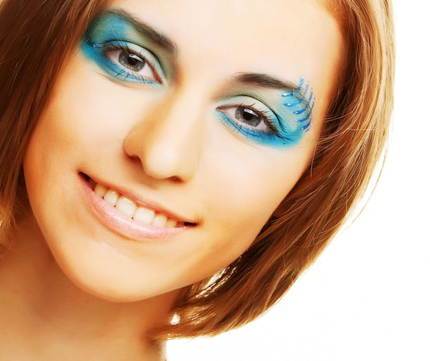 Maquiagem criativa.