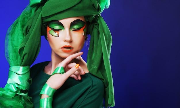 Maquiagem verde exótica