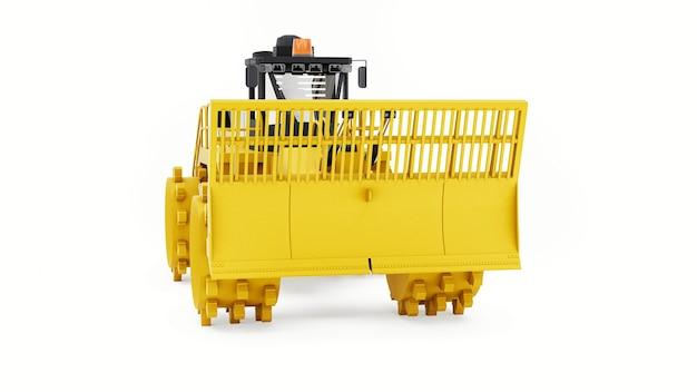 Máquina compactadora de lixo para aterros, bulldozer industrial para trabalhar em aterros sanitários