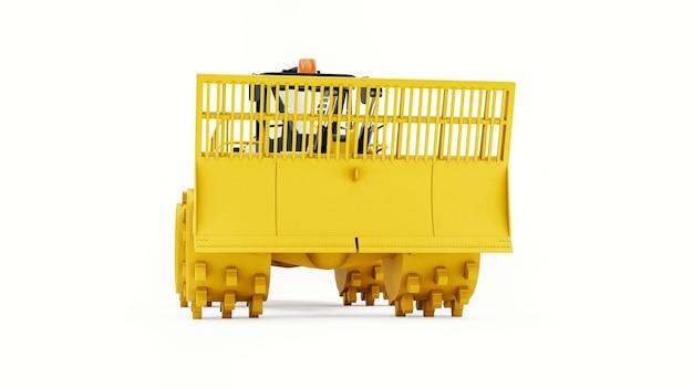 Máquina compactadora de lixo para aterros sanitários