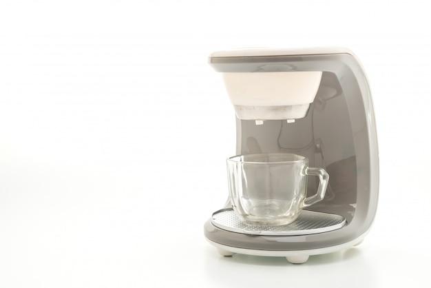 Máquina de café sobre fundo branco