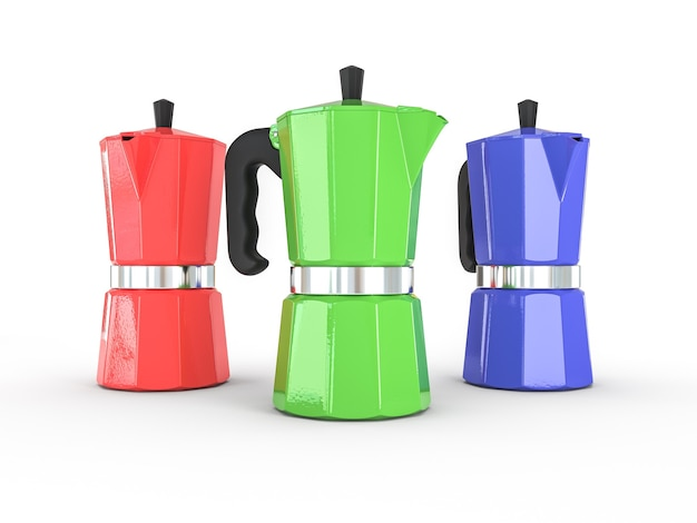 Máquina de café vintage. renderização 3d de alta qualidade