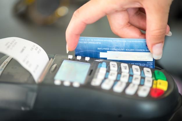 Máquina de cartão visa