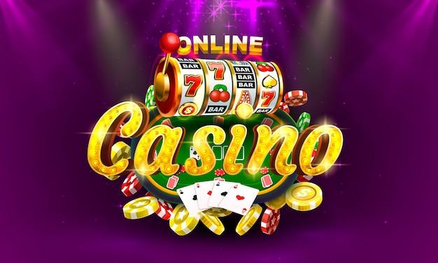 Máquina de dinheiro online de casino de pôquer jogar agora vetor