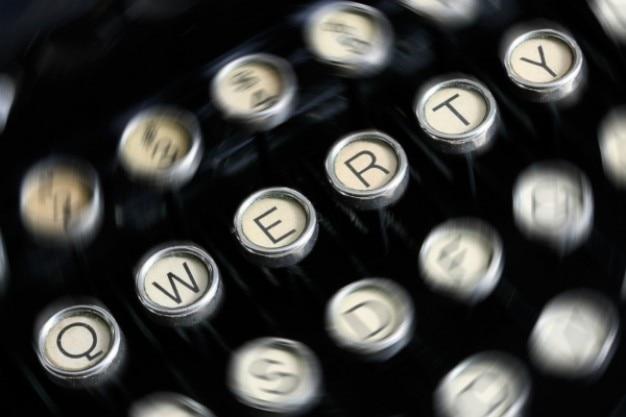 Máquina de escrever antiga fechar-se